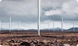 Windturbine zonder wieken